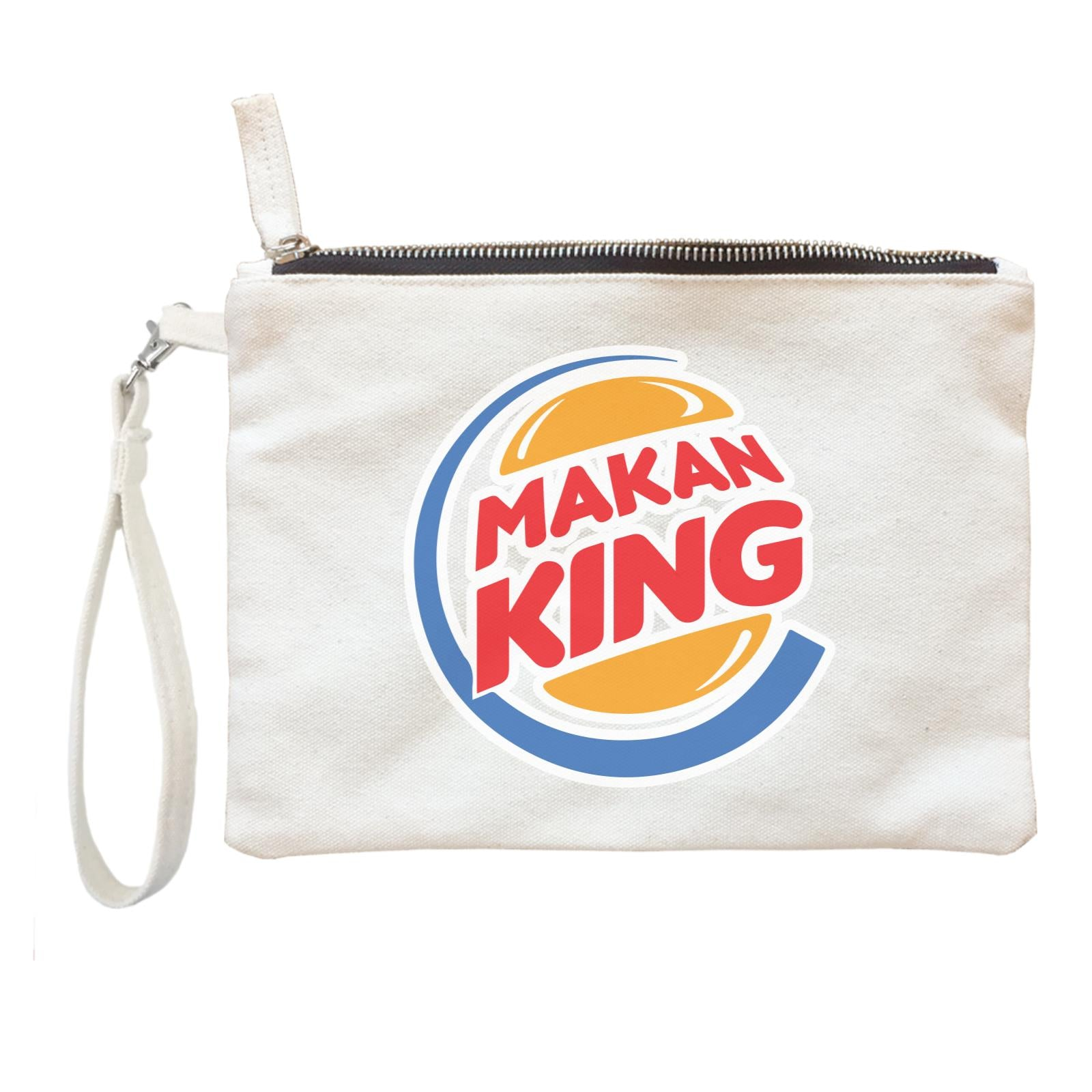 Slang Statement Makan King Accessories Zipper Pouch with Handle