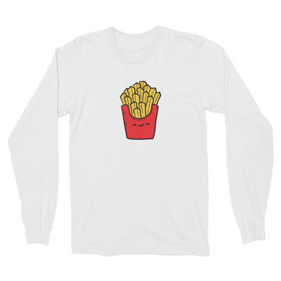 Fast Food Fries Long Sleeve Unisex T-Shirt  Matching Family Comic Cartoon