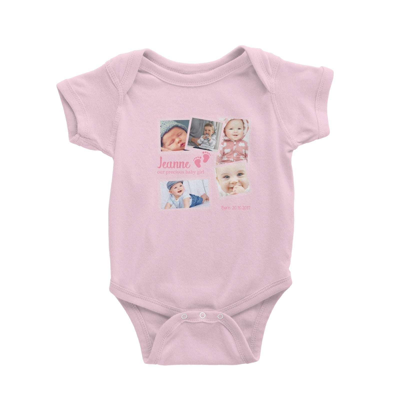 Photo Gift Series Sweet Baby Girl Milestone Baby Romper