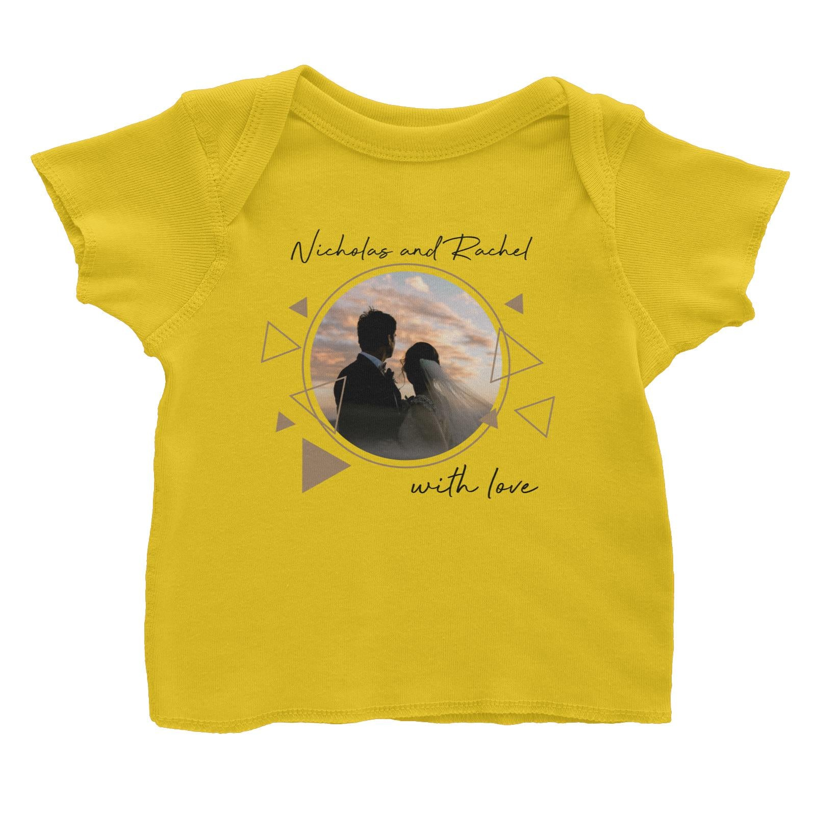 Photo Gift Series Golden Geometrical Baby T-shirt