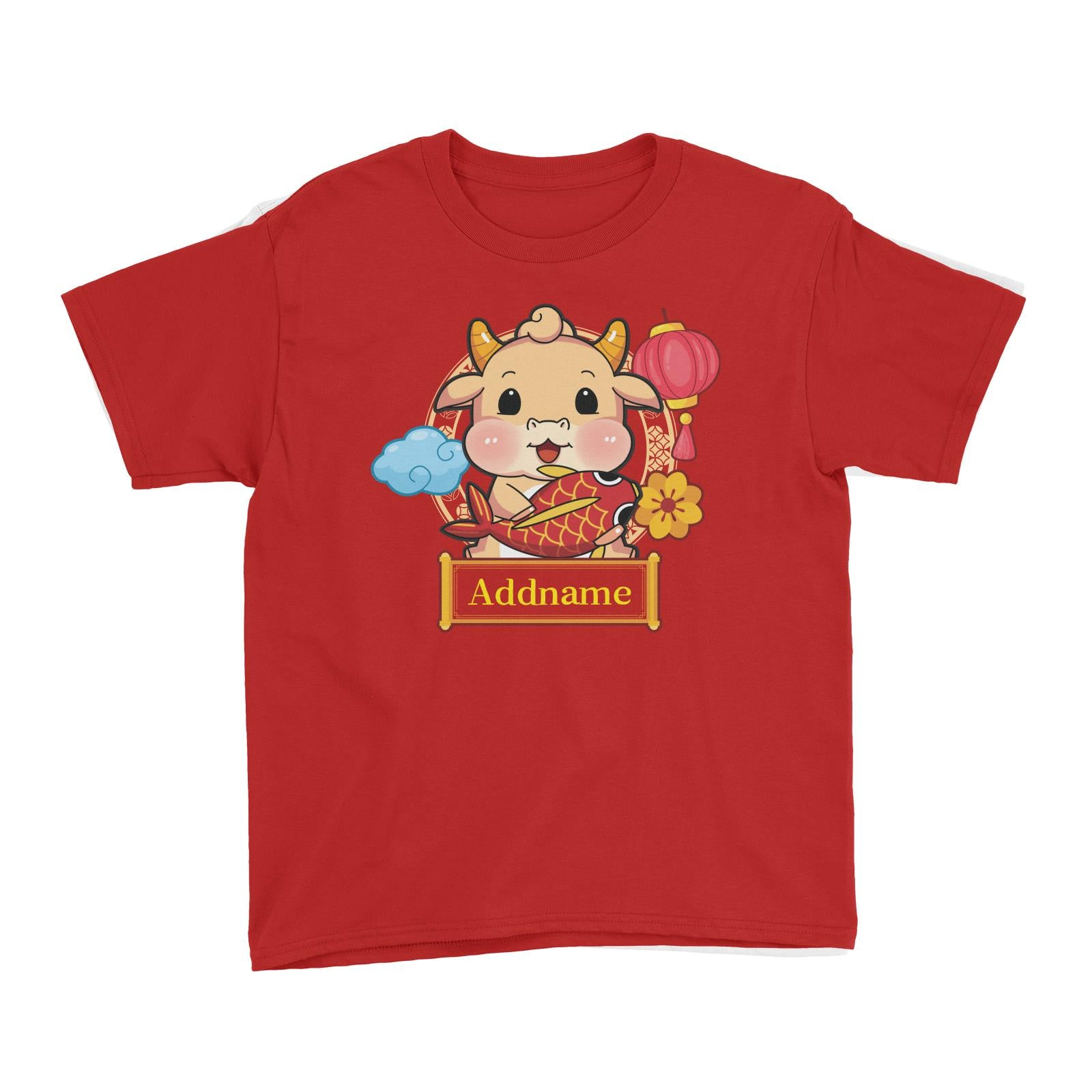 [CNY 2021] Golden Cow with Koi Fish Kid's T-Shirt