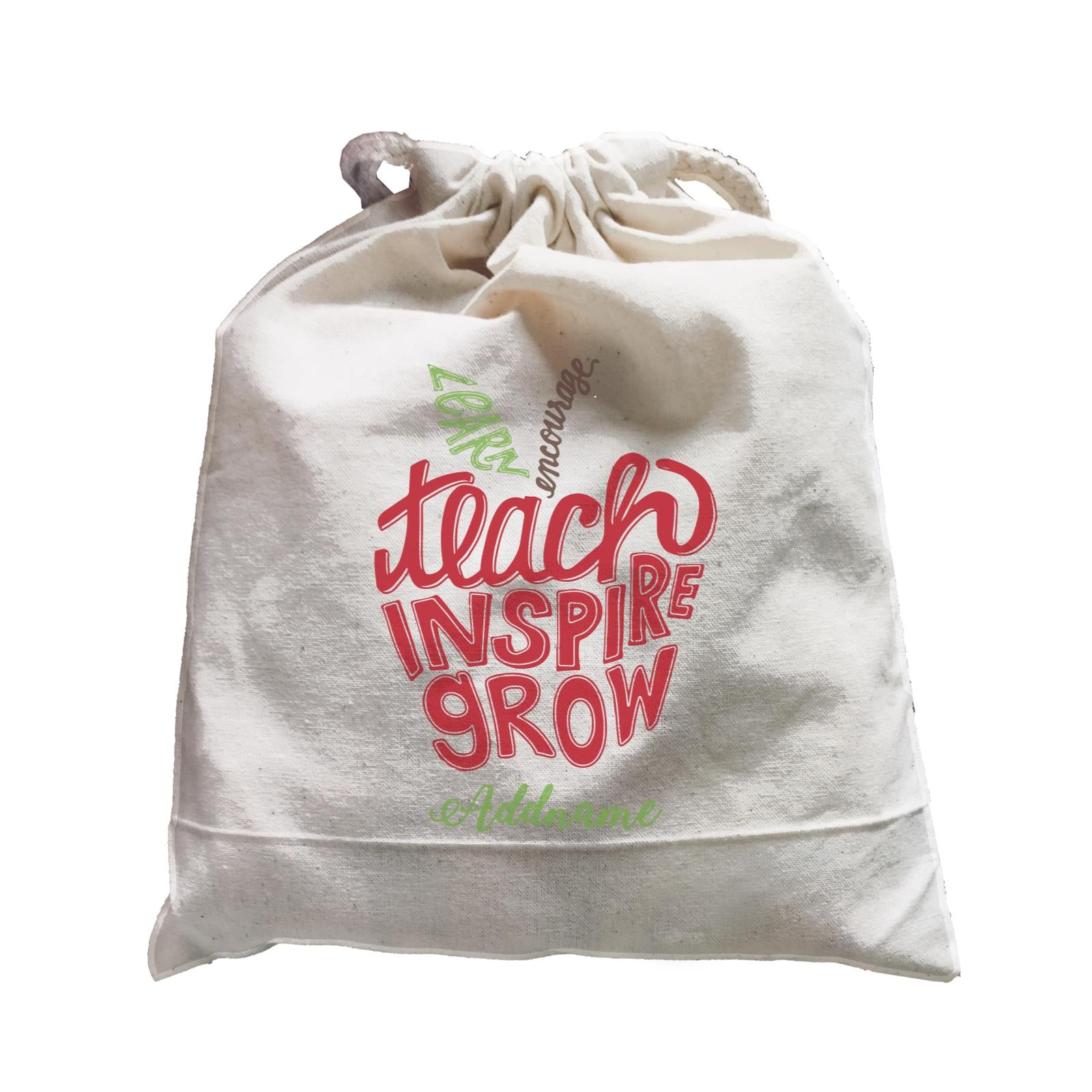 Teacher Apple Learn Encourage Teacher Inspire Grow Addname Satchel