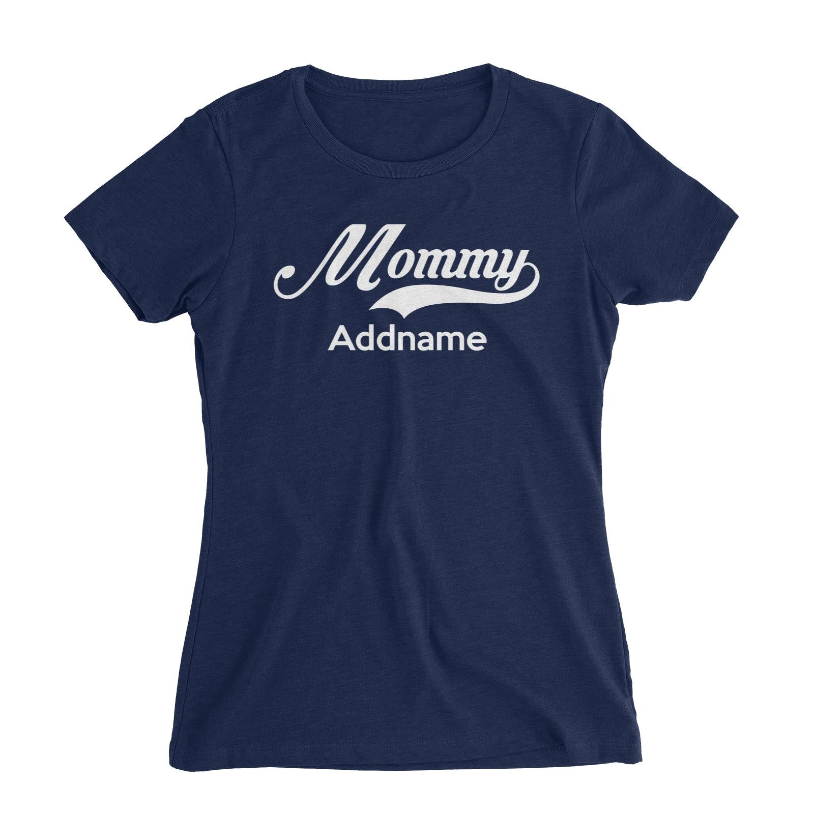 Retro Mommy Addname Women's Slim Fit T-Shirt  Matching Family Personalizable Designs