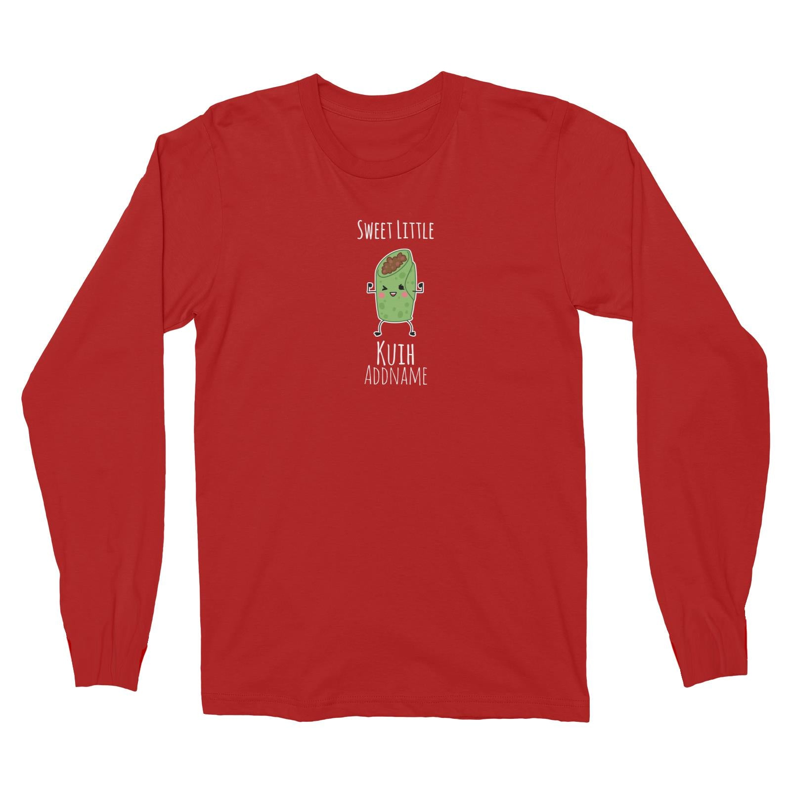 Raya Kuih Sweet 2 Sweet Little Kuih Addname Long Sleeve Unisex T-Shirt