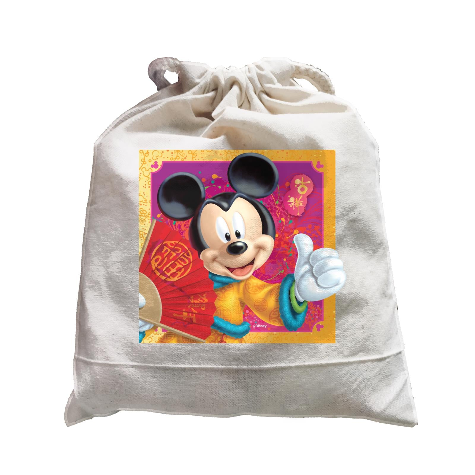 Disney CNY Mickey With Fan Non Personalised SAT Satchel
