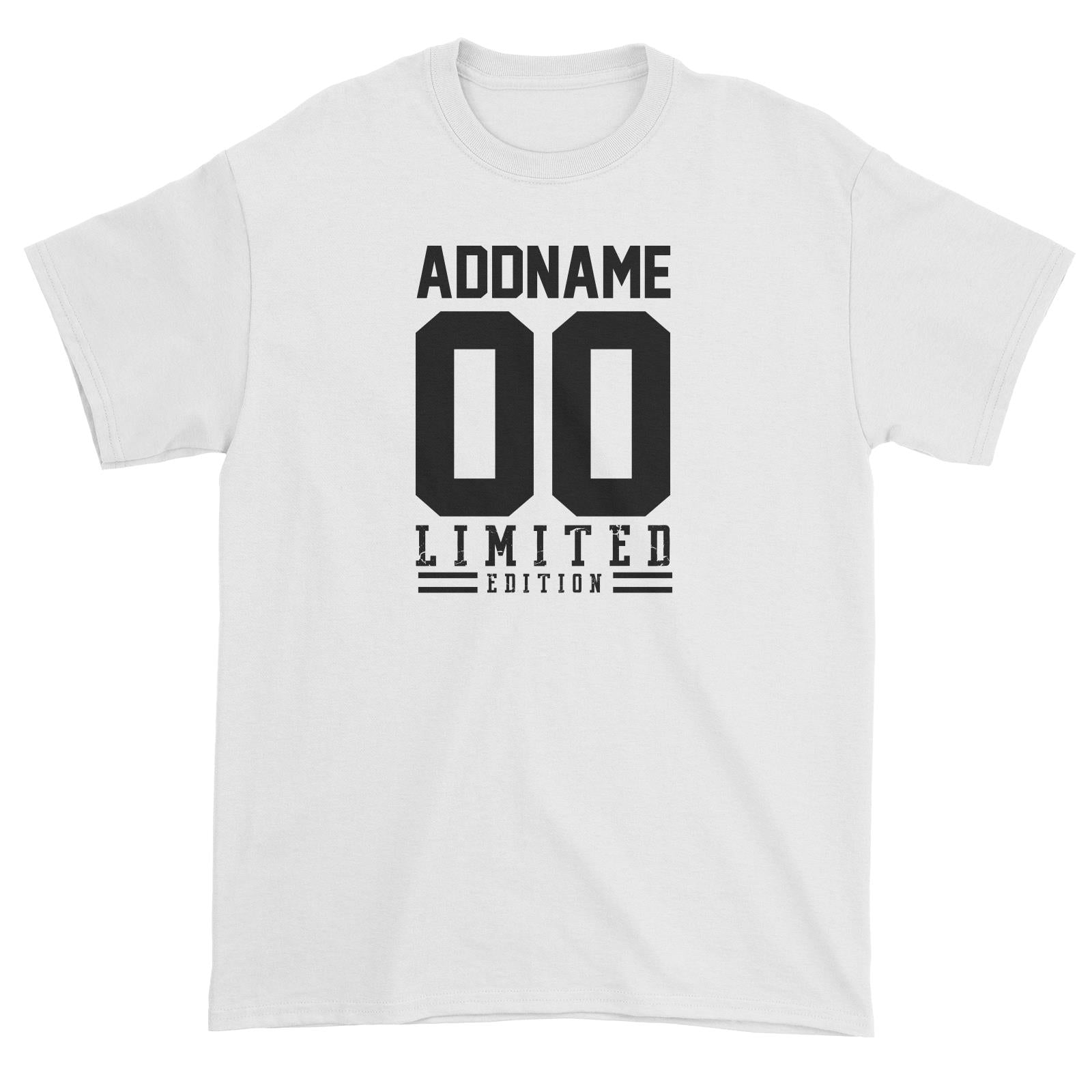 Limited Edition Jersey Personalizable with Name and Number Unisex T-Shirt
