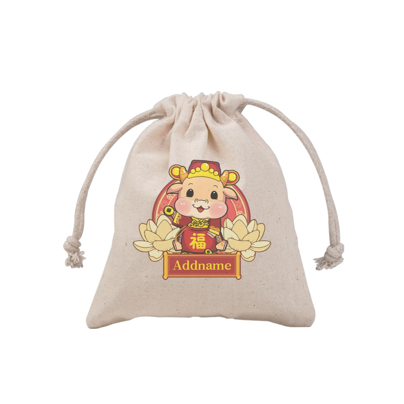 [CNY 2021] Gold Lotus Series Cow of Wealth MP Mini Pouch
