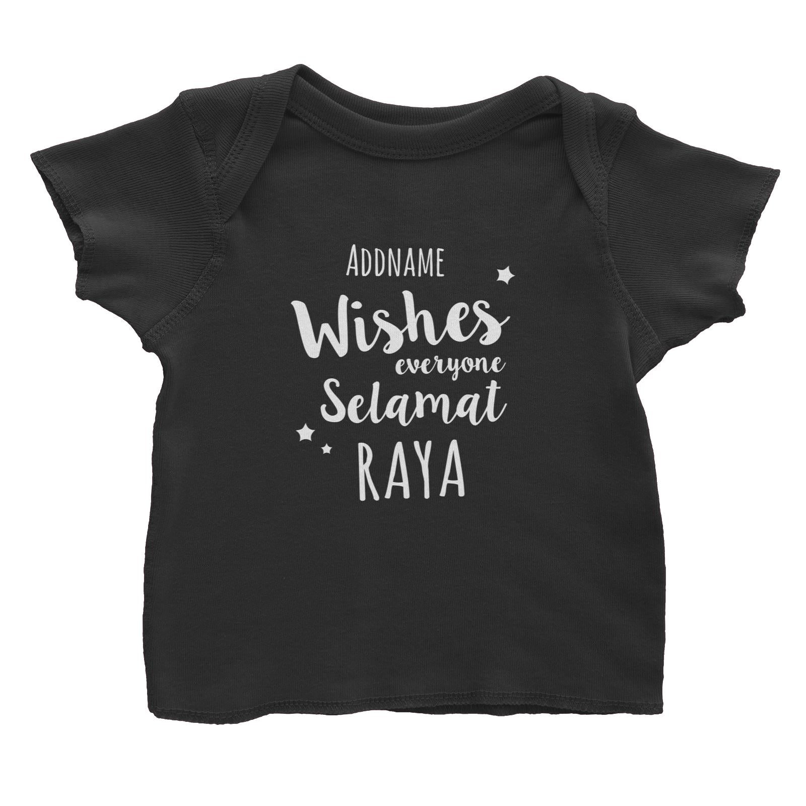 Wishes Everyone Selamat Raya Baby T-Shirt  Personalizable Designs Raya Text