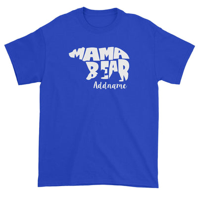 Mama Bear Silhoutte Addname Unisex T-Shirt  Matching Family Personalizable Designs