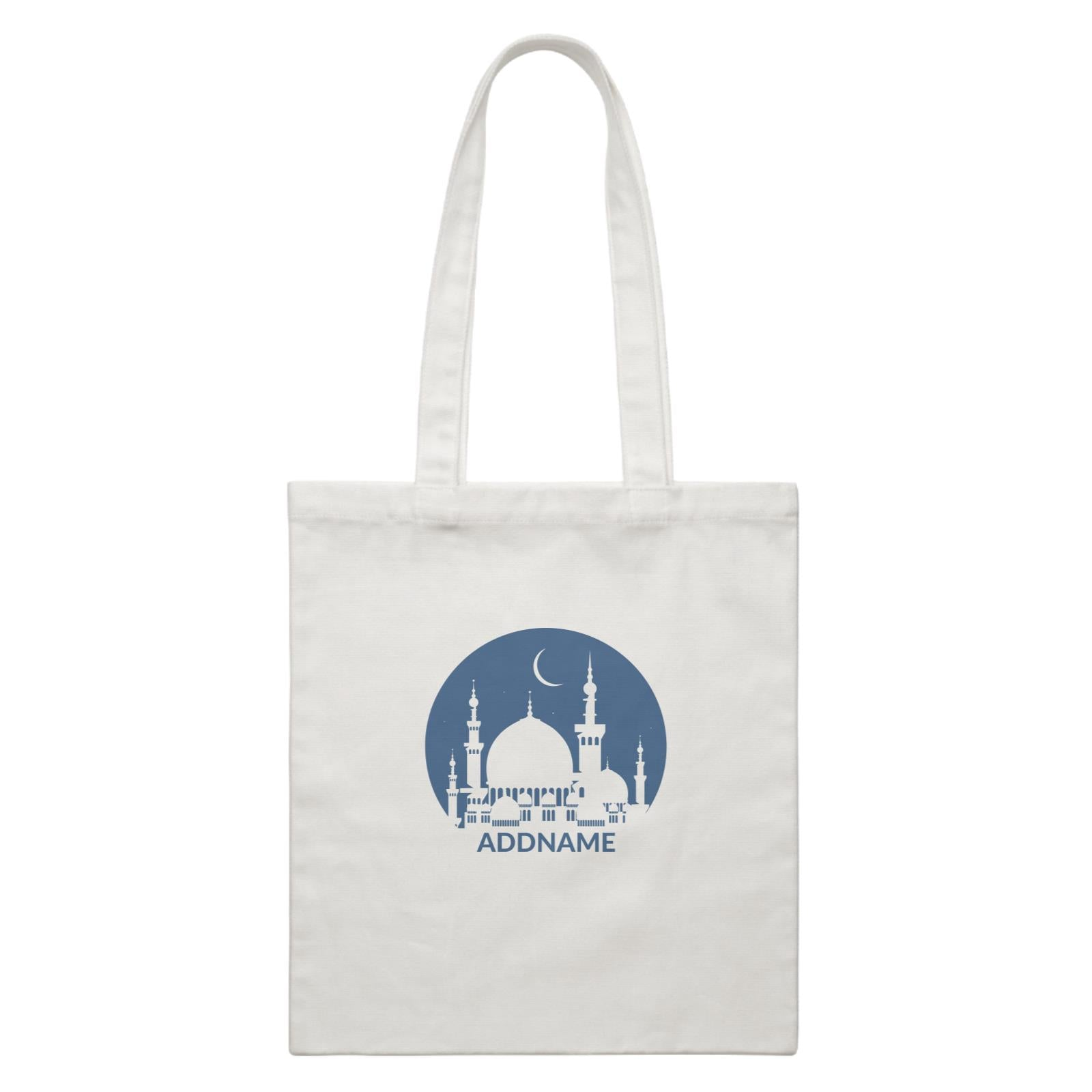 Mosque Moon White Canvas Bag
