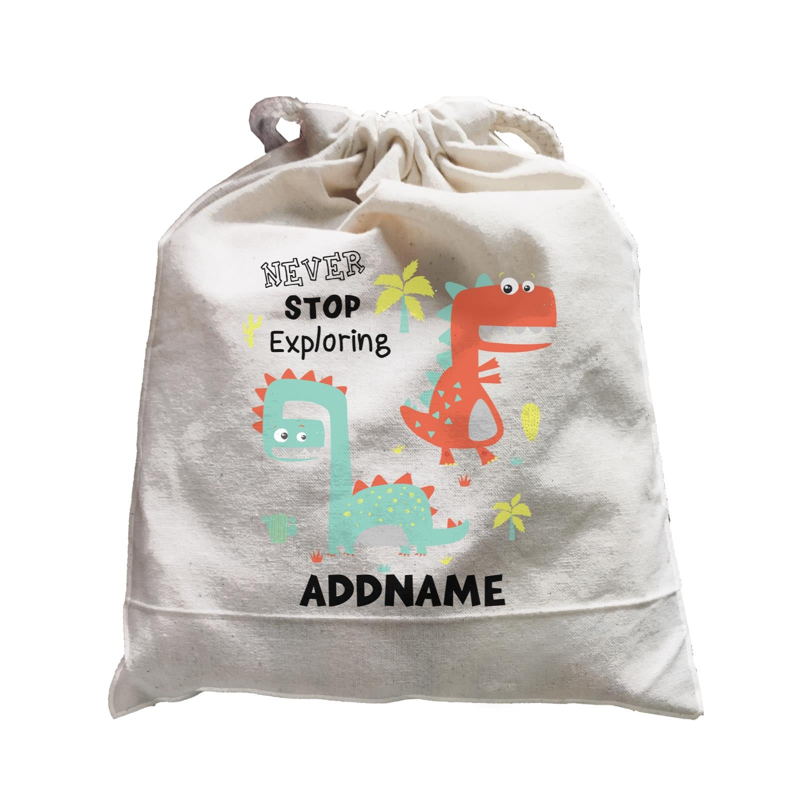 Never Stop Exploring Dinosaur Addname Bag Satchel