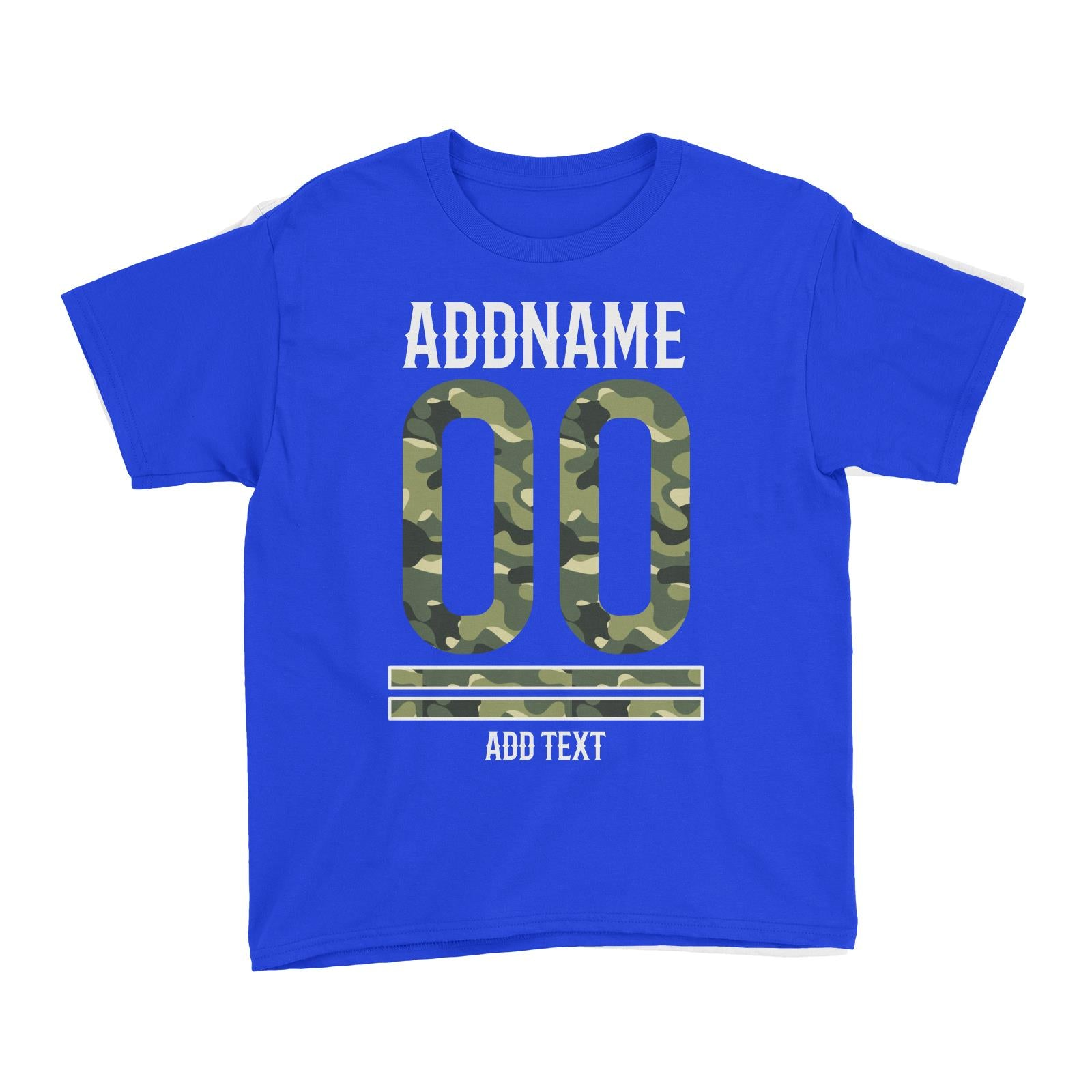 Camouflage Jersey Personalizable with Name Number and Text Kid's T-Shirt