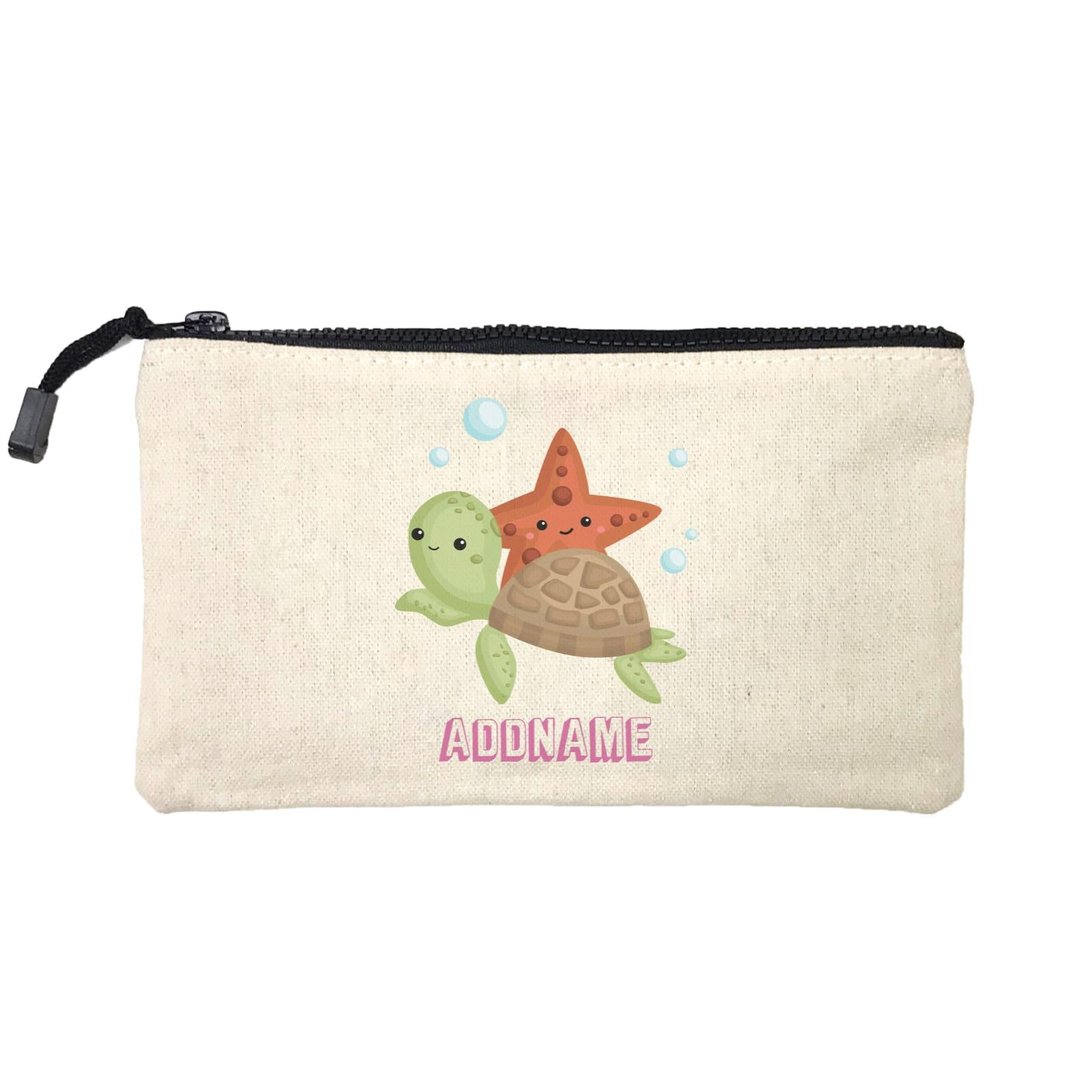 Birthday Mermaid Turtle And Starfish Addname Mini Accessories Stationery Pouch