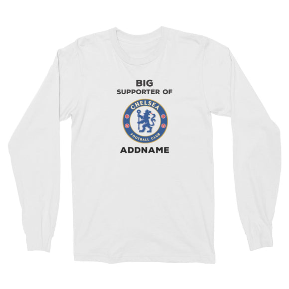 Chelsea FC Big Supporter Personalizable with Name Long Sleeve Unisex T-Shirt