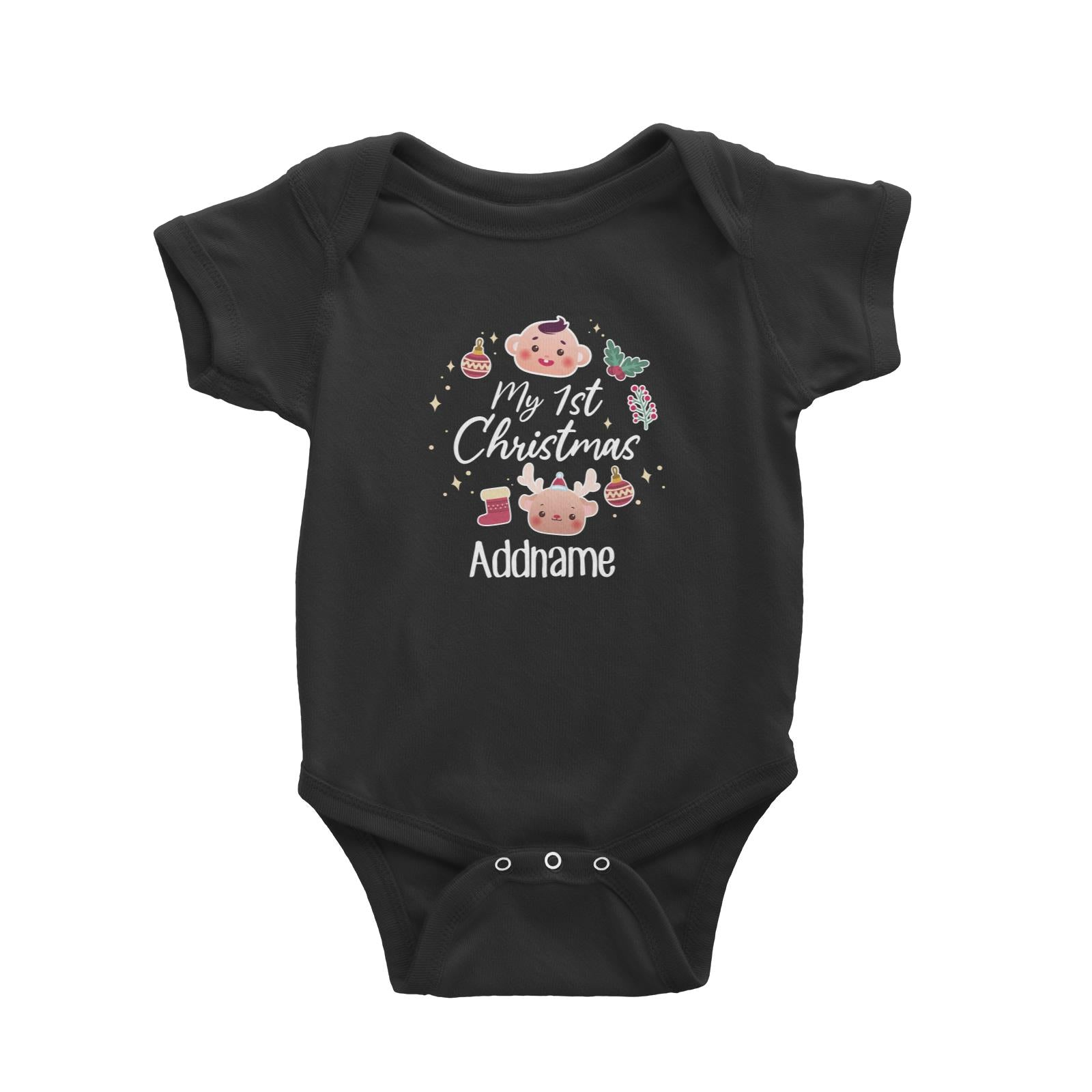 Christmas Cute Wreath My 1st Christmas Baby Romper