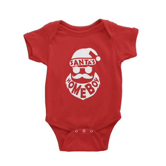 Santa's Homeboy Baby Romper Christmas Funny Cool