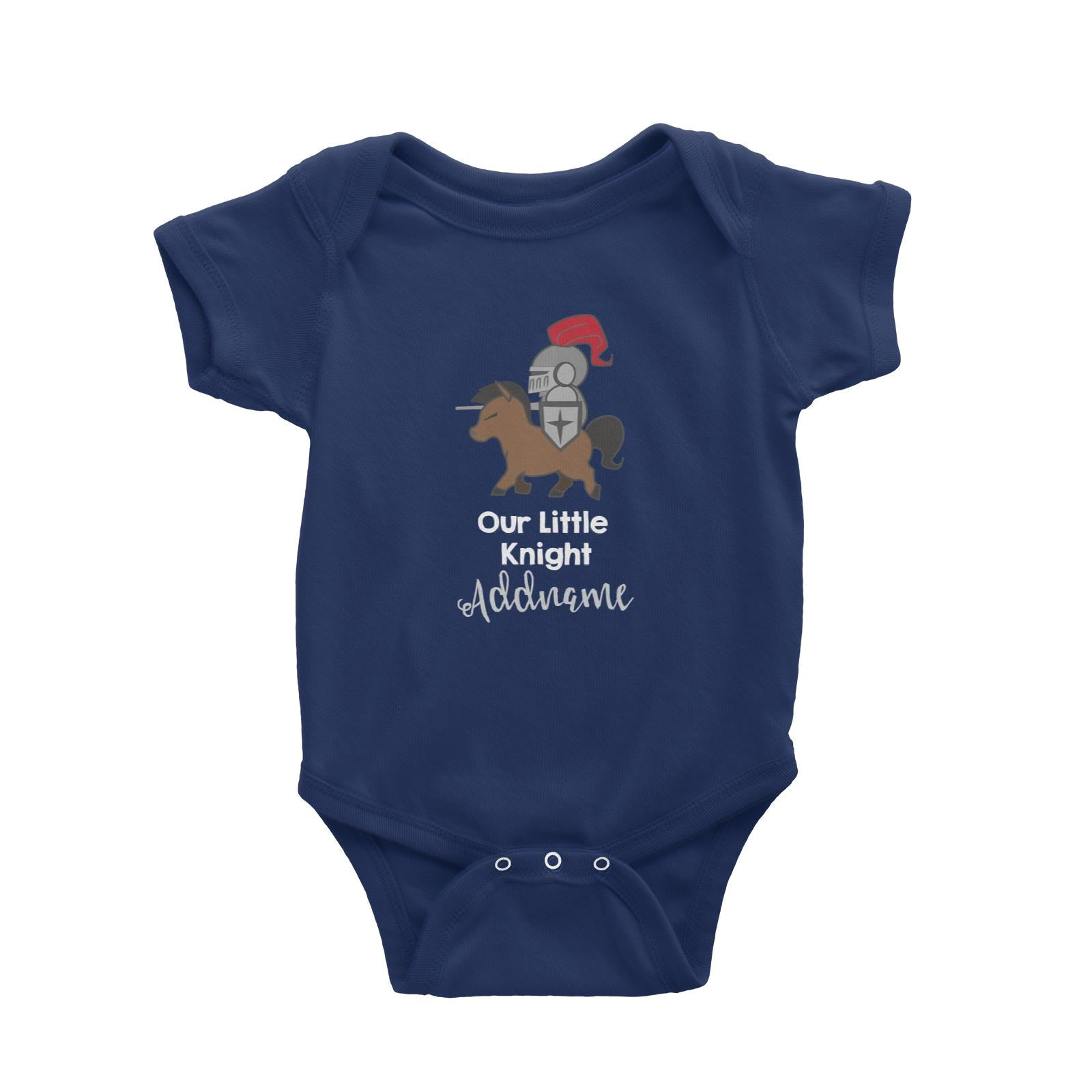 Babywears.my Our Little Knight on Horse Addname T-Shirt Personalizable Designs For Boys