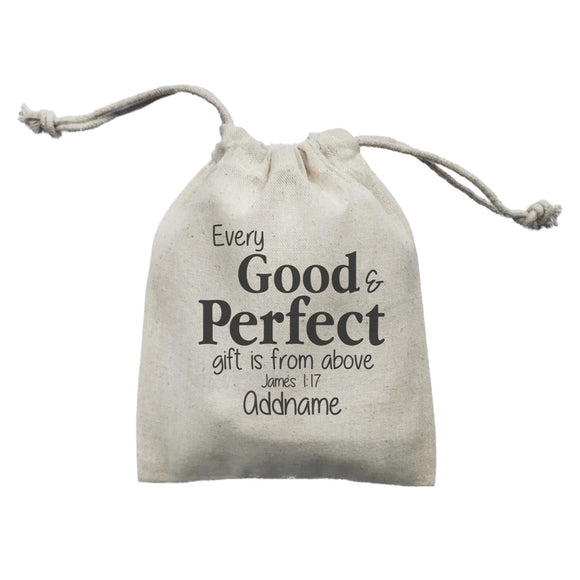 Christ Newborn Every Good and Perfect Gift is from Above James 1.17 Addname Mini Accessories Mini Pouch