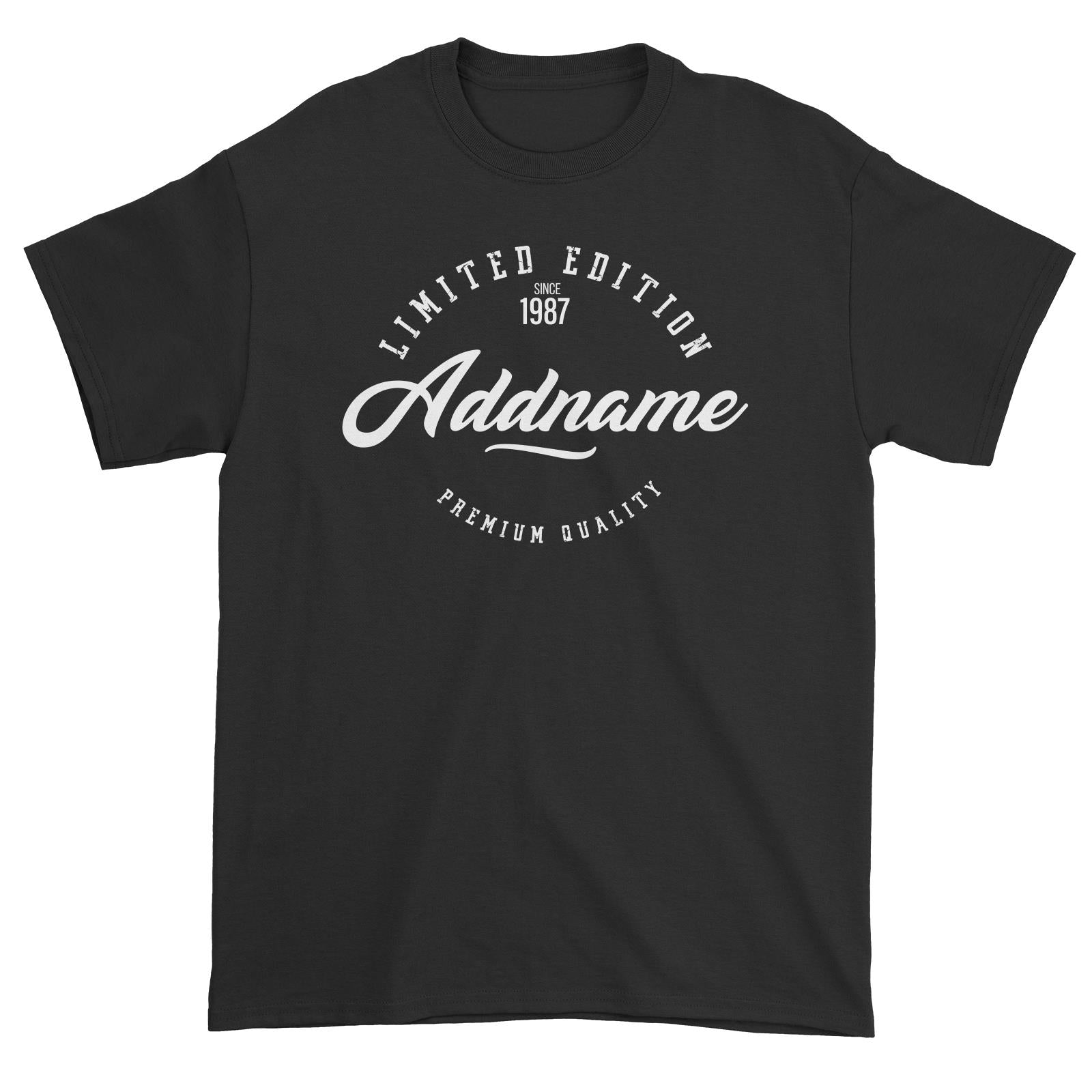 Limited Edition Since Year Personalizable with Name and Year Unisex T-Shirt