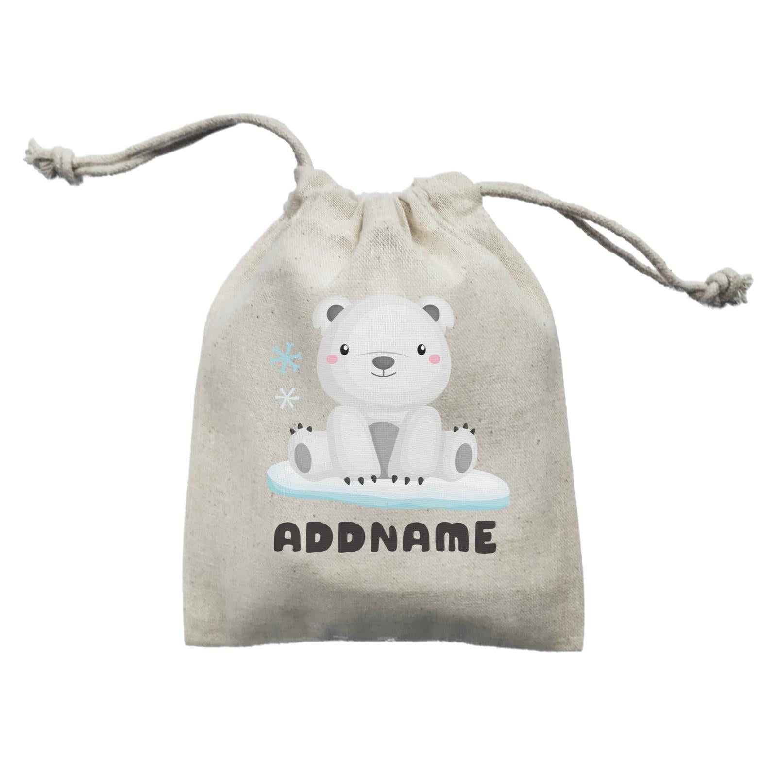 Birthday Winter Animals Polar Bear Addname Mini Accessories Mini Pouch