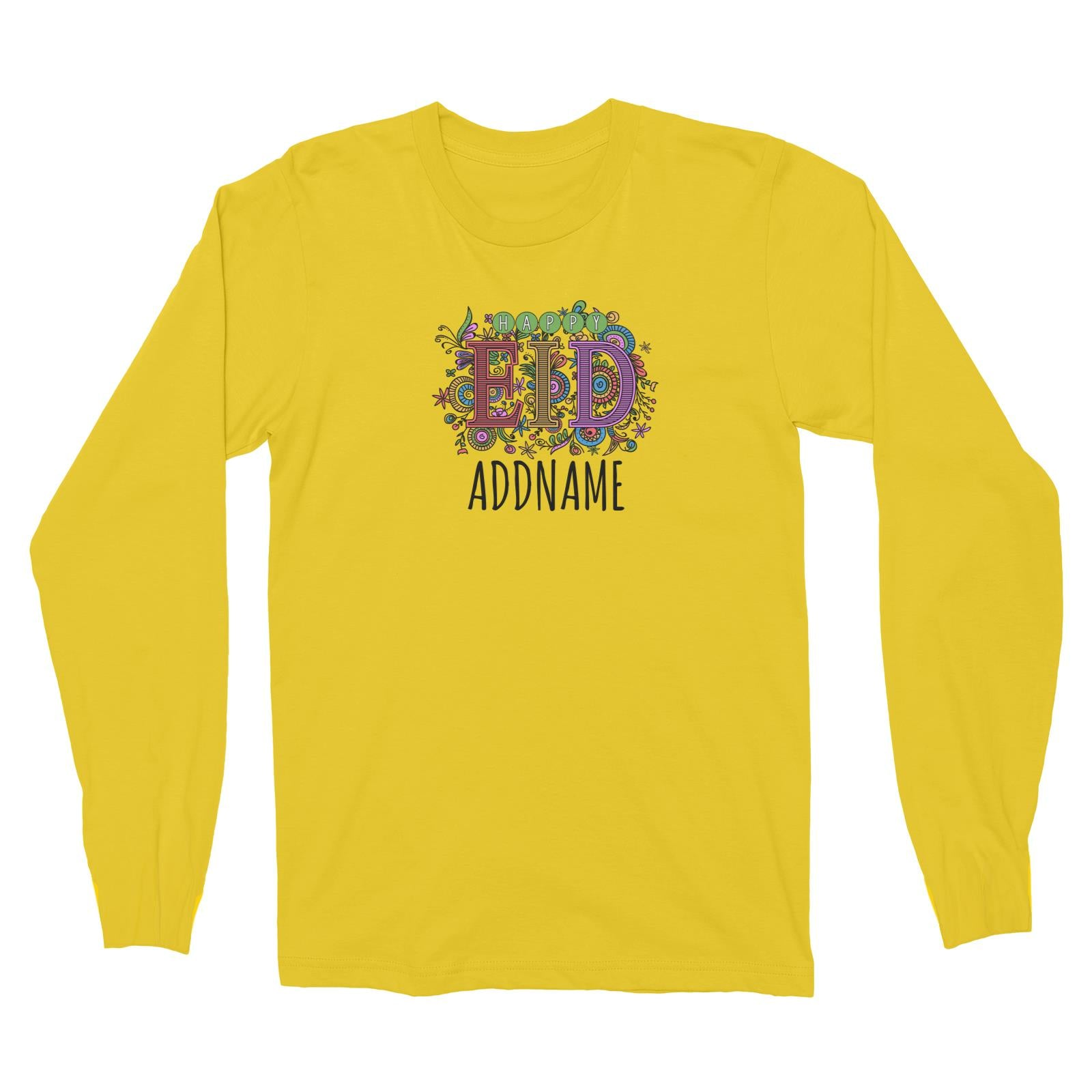 Happy EID Long Sleeve Unisex T-Shirt Raya Personalizable Designs