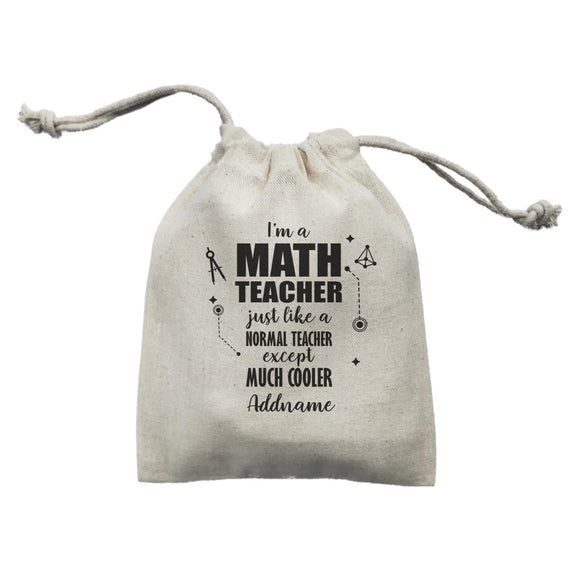 Subject Teachers 1 I'm A Math Teacher Addname Mini Accessories Mini Pouch