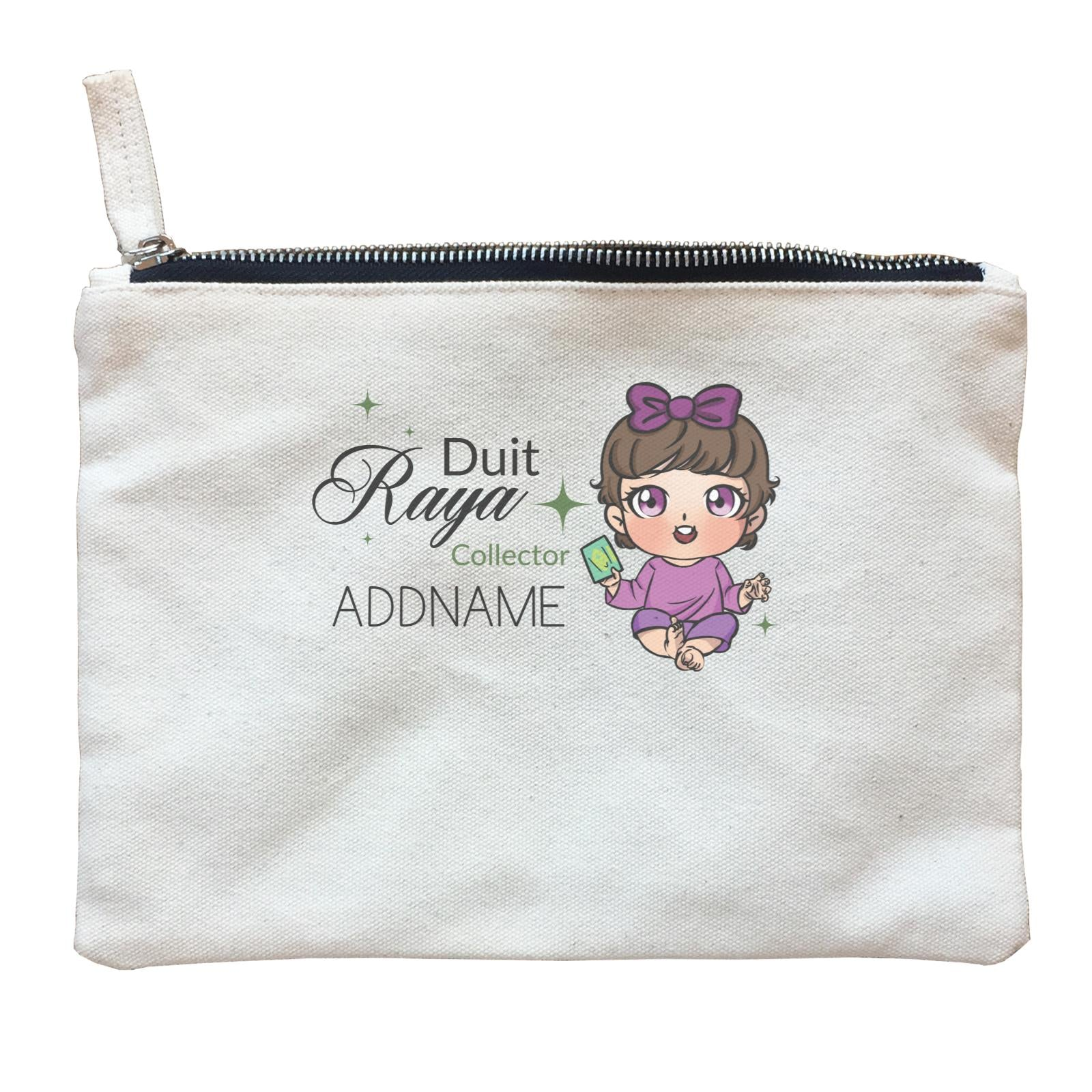 Raya Chibi Baby Baby Girl Duit Raya Collector Addname Zipper Pouch