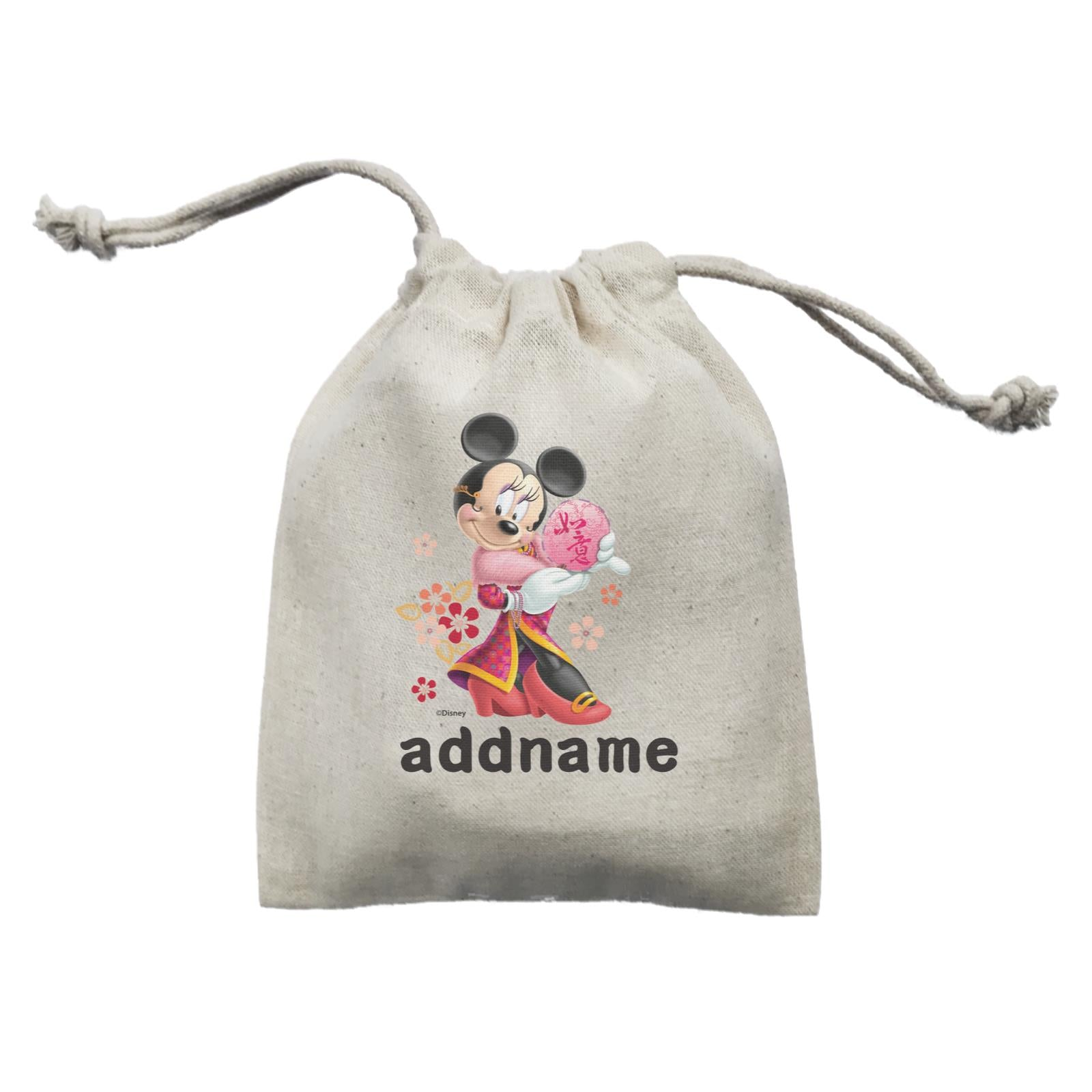 Disney CNY Minnie With Fan Personalised Mini Accessories Mini Pouch