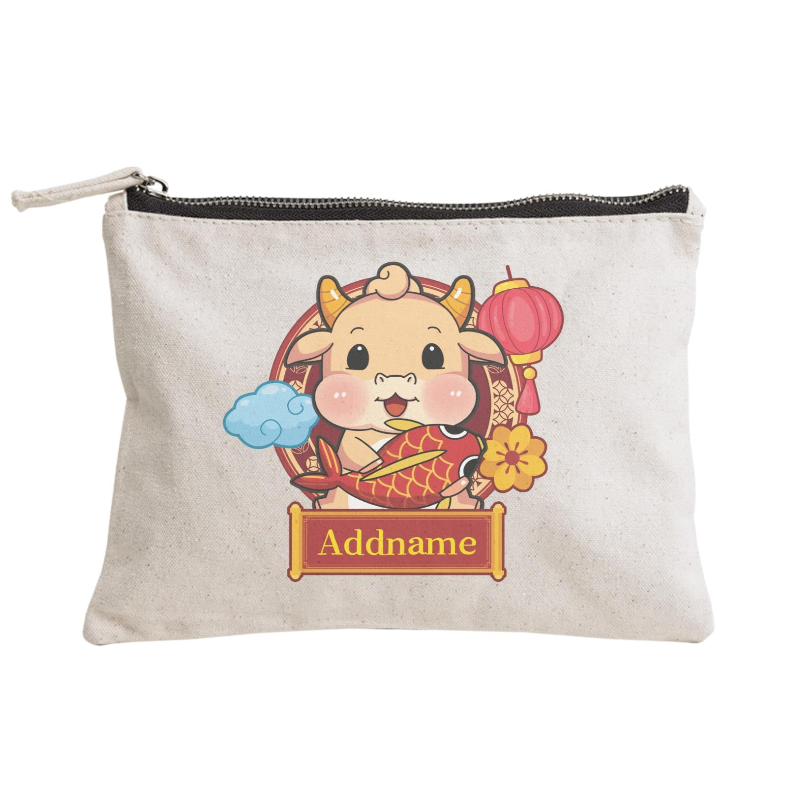 [CNY 2021] Golden Cow with Koi Fish Zipper Pouch