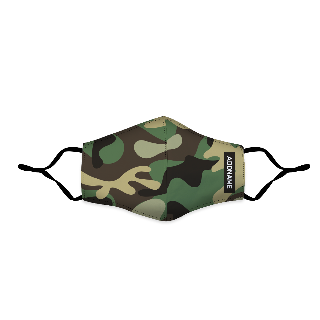 Camo Fitted Fabric Mask