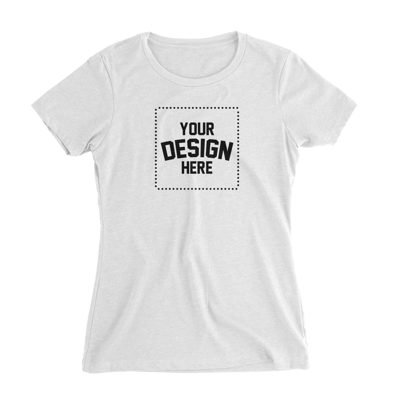 Custom Your Own Design Women's Slim Fit T-Shirt
