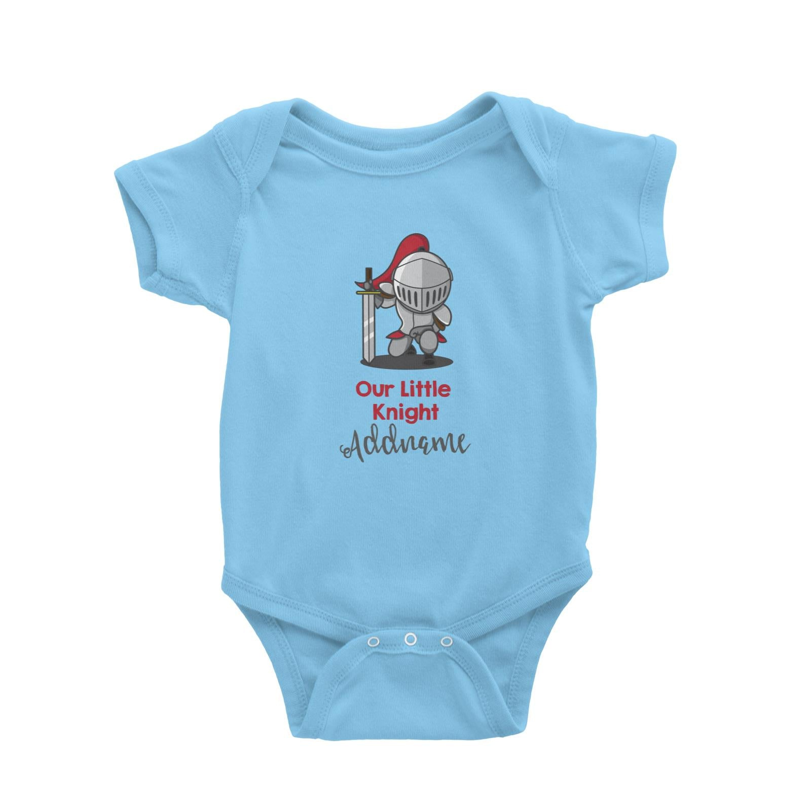 Babywears.my Our Little Knight in Armour Addname T-Shirt For Boys Personalizable Designs