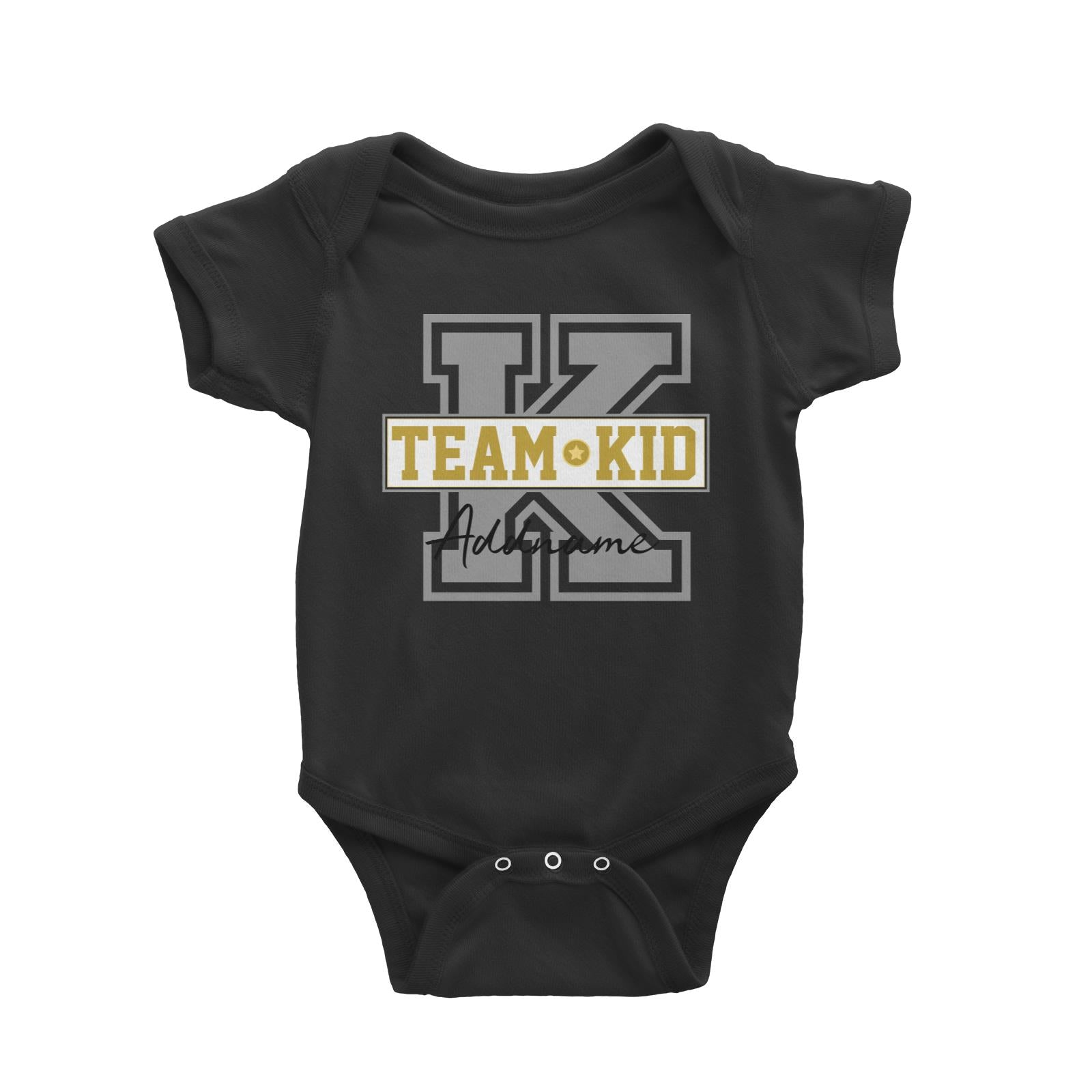 Team Kid Addname Baby Romper
