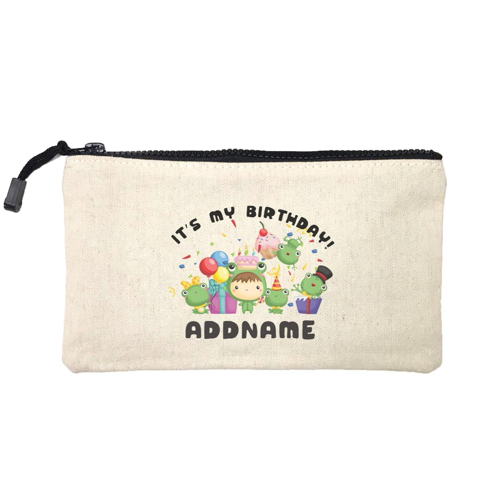 Birthday Frog Happy Frog Group It's My Birthday Addname Mini Accessories Stationery Pouch