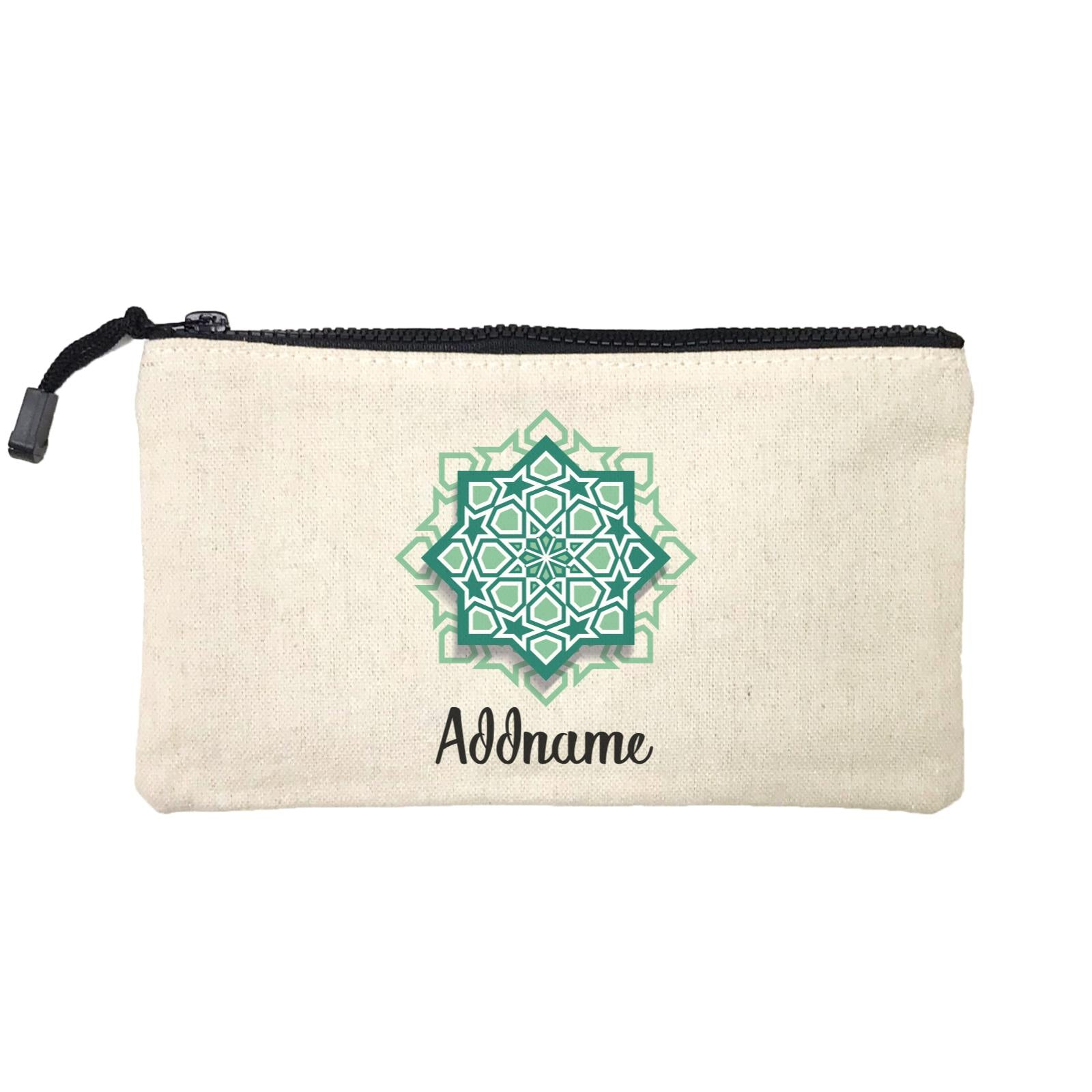 Raya Symbol Green Islamic Geometric Pocket Addname Mini Accessories Stationery Pouch