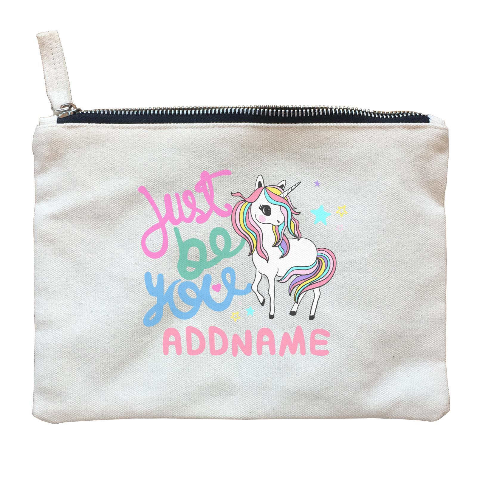 Children's Day Gift Series Just Be You Cute Unicorn Addname  Zipper Pouch