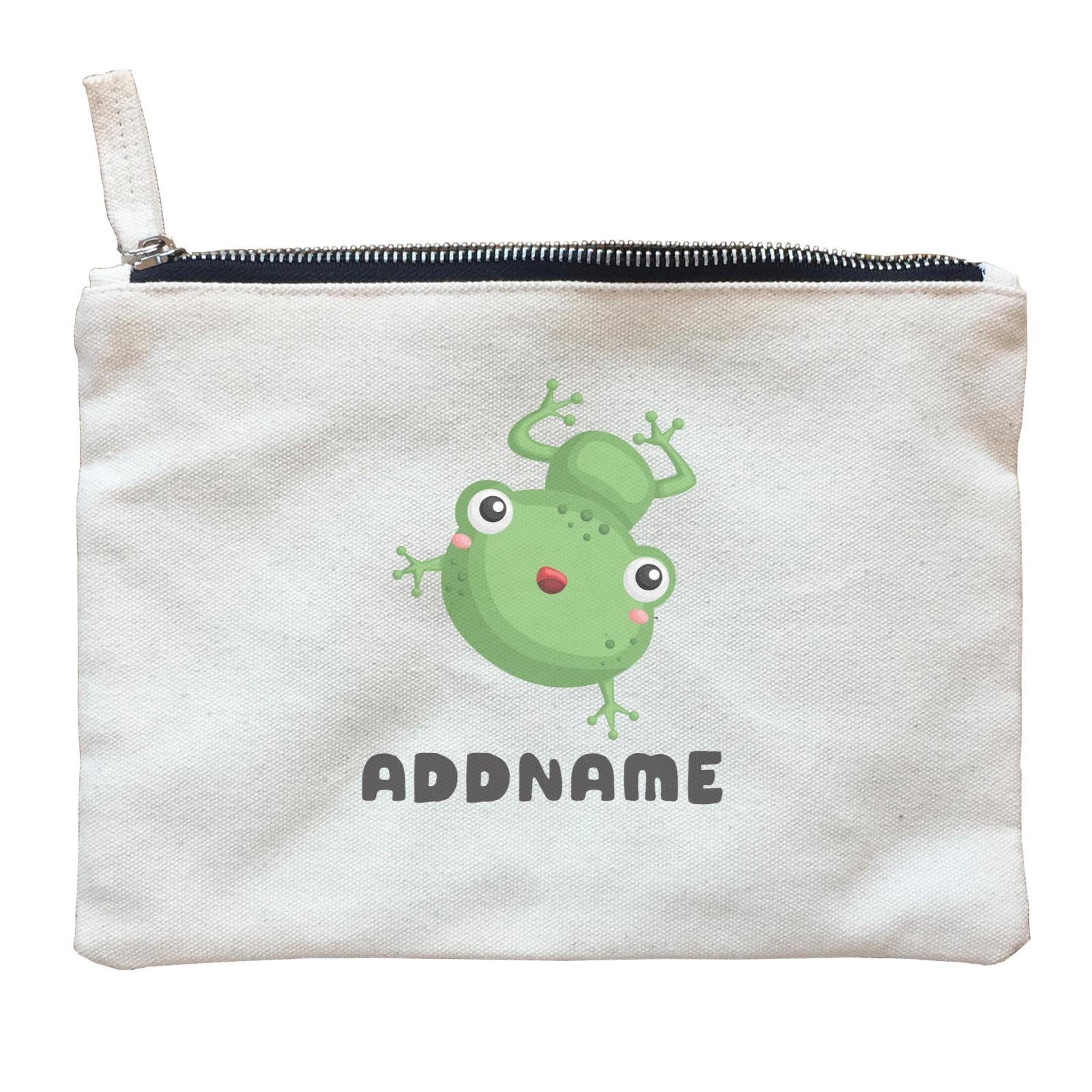 Birthday Frog Frog Happy Jumping Addname Zipper Pouch