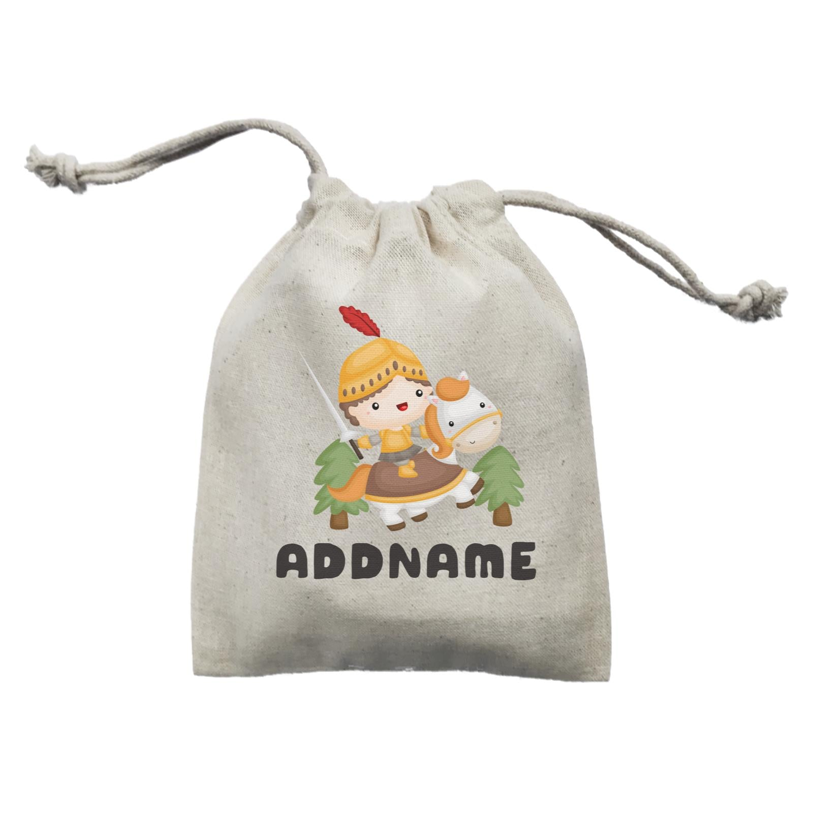 Birthday Royal Knight Boy Ridding Horse Addname Mini Accessories Mini Pouch