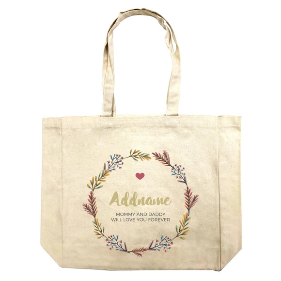 Autumn Colours Wreath Personalizable with Name and Text Shopping Bag