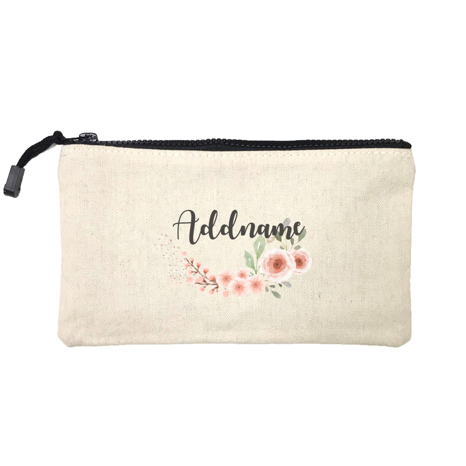 Bridesmaid Floral Sweet 2 Watercolour Flowers Addname Mini Accessories Stationery Pouch