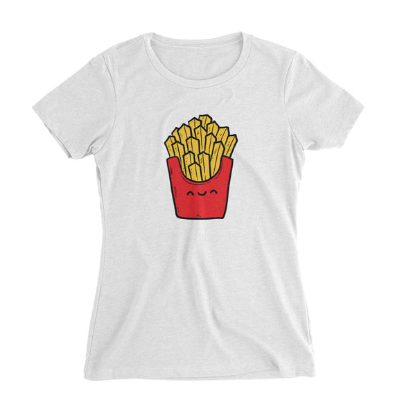 Fast Food Fries Women's Slim Fit T-Shirt  Matching Family Comic Cartoon