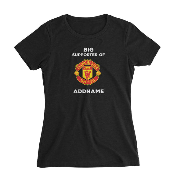 Manchester United FC Big Supporter Personalizable with Name Women's Slim Fit T-Shirt