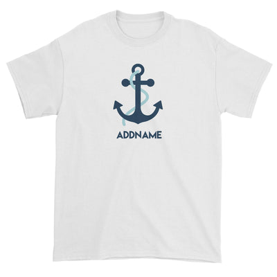 Sailor Anchor Blue Addname Unisex T-Shirt  Matching Family Personalizable Designs