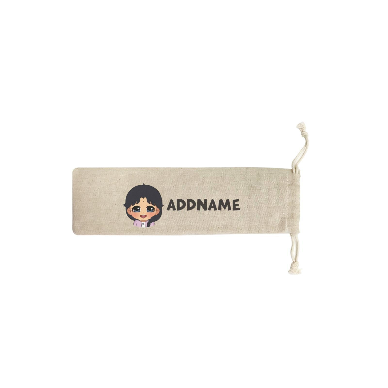 Children's Day Gift Series Little Indian Girl Addname SB Straw Pouch (No Straws included)