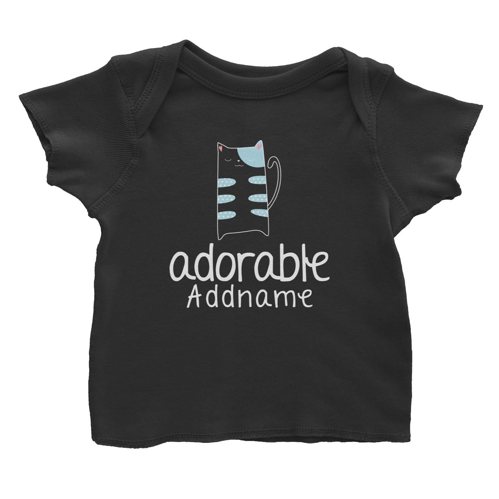 Cute Animals and Friends Series 2 Cat Adorable Addname Baby T-Shirt