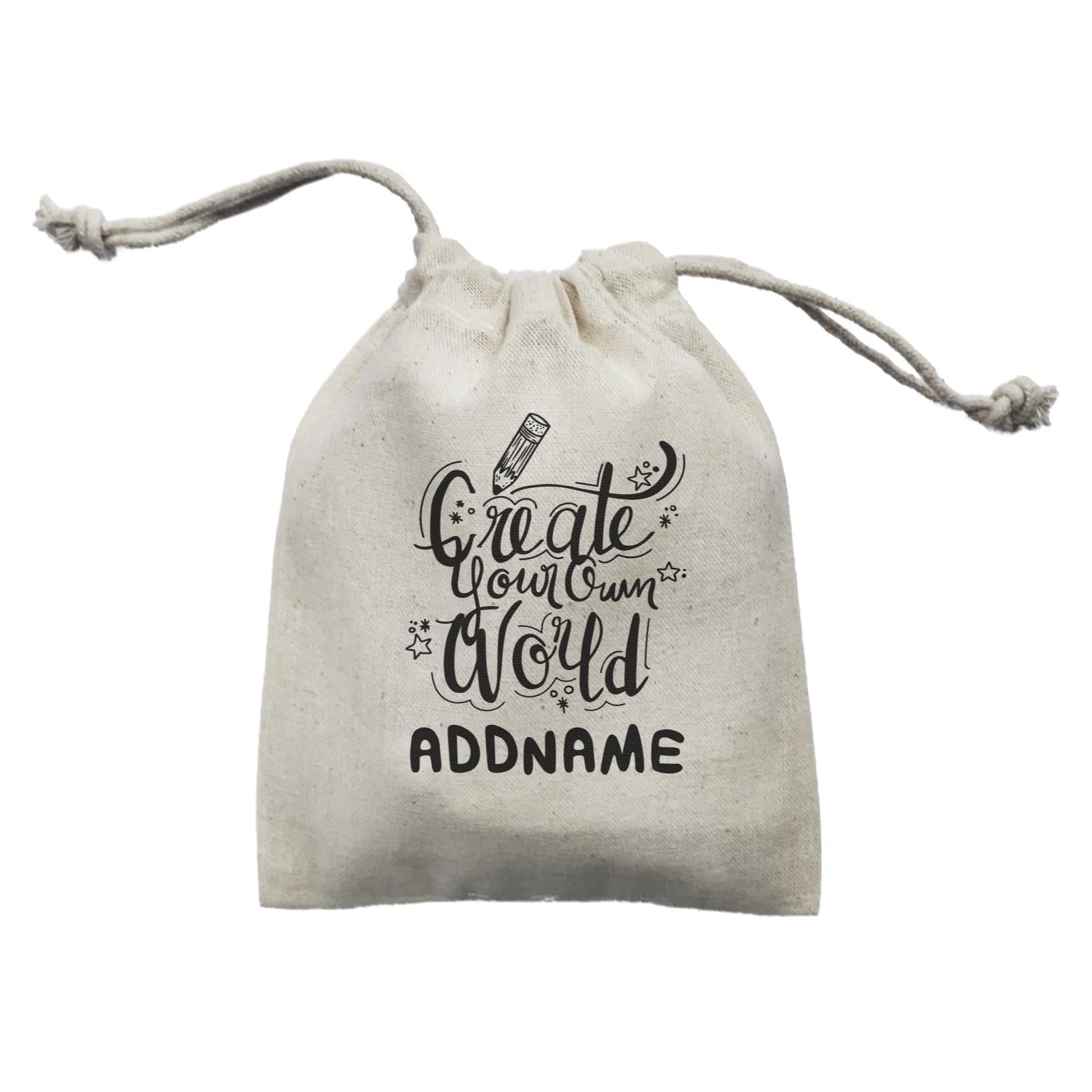 Children's Day Gift Series Create Your Own World Addname  Mini Pouch