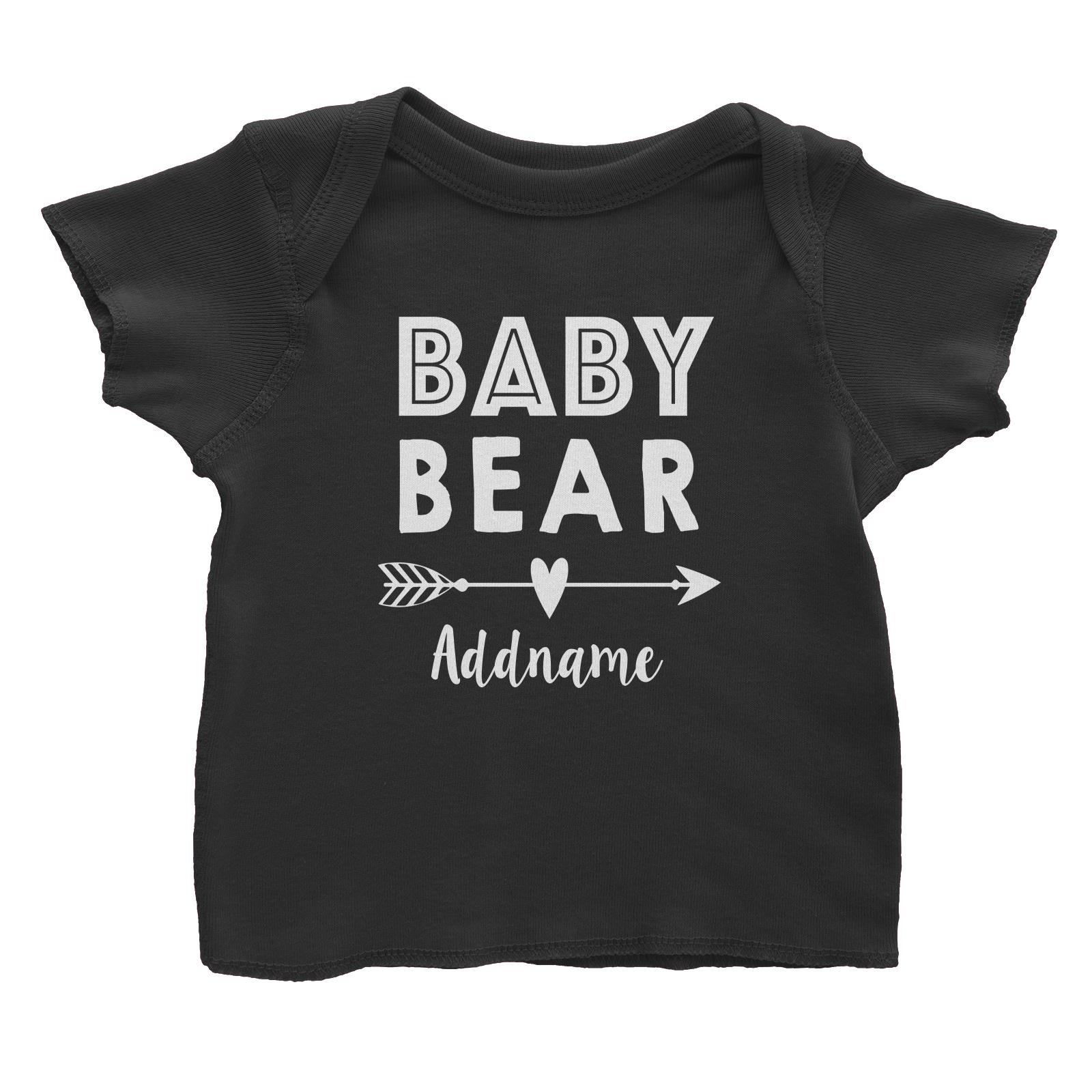Baby Bear Addname Baby T-Shirt  Matching Family Personalizable Designs