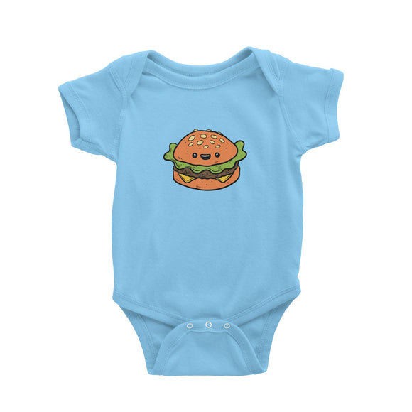 Fast Food Burger Baby Romper  Matching Family Comic Cartoon