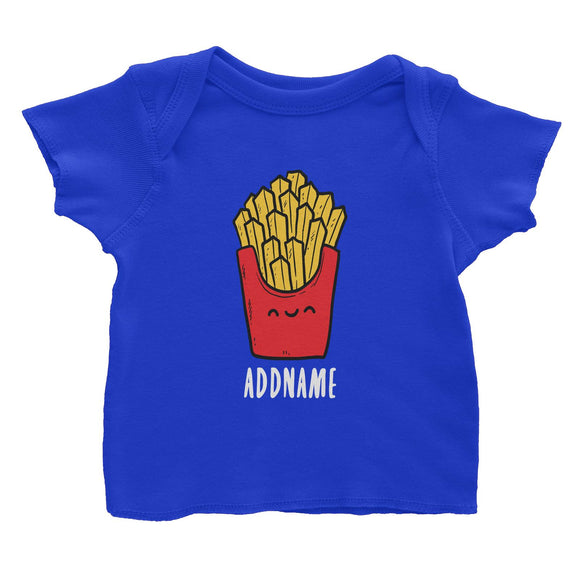 Fast Food Fries Addname Baby T-Shirt  Matching Family Comic Cartoon Personalizable Designs