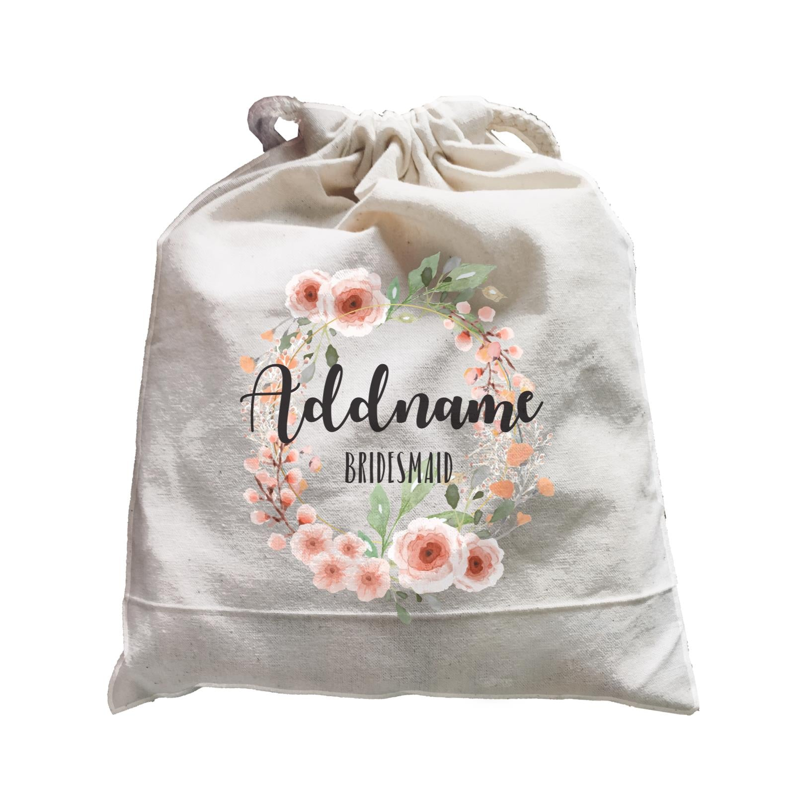 Bridesmaid Floral Sweet 2 Watercolour Flower Wreath Bridesmaid Addname Satchel